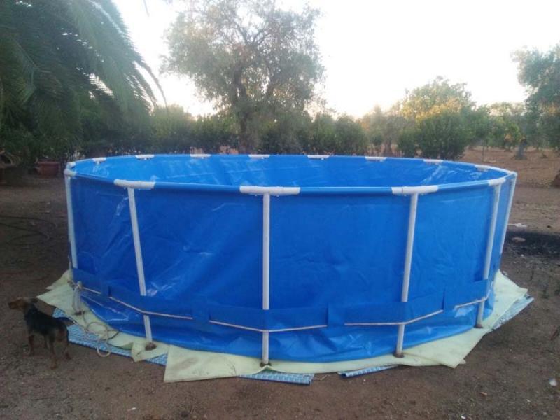 9a3702a7 Capas para piscina lona azul